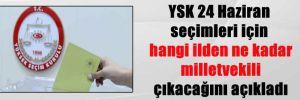YSK 24 Haziran seçimleri için hangi ilden ne kadar milletvekili çıkacağını açıkladı