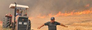 Pamukkale'de anız yangını ormana sıçradı