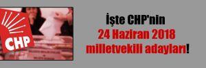İşte CHP'nin 24 Haziran 2018 milletvekili adayları!