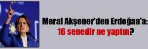 Meral Akşener'den Erdoğan'a: 16 senedir ne yaptın?