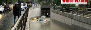 Ankara'da sağanak yağış! Yollar göle döndü