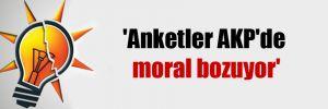 'Anketler AKP'de moral bozuyor'
