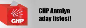 CHP Antalya aday listesi!