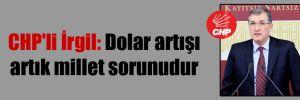 CHP'li İrgil: Dolar artışı artık millet sorunudur