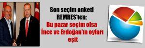 Son seçim anketi REMRES'ten: Bu pazar seçim olsa İnce ve Erdoğan'ın oyları eşit