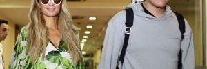 Paris Hilton, Antalya'ya nişanlısı Amerikalı aktör Chris Zykla ile geldi