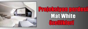 Projeksiyon perdesi Mat White özellikleri