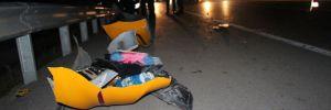 Direksiyon başında canlı yayın, kazaya neden oldu: 2 yaralı