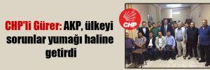 CHP'li Gürer: AKP, ülkeyi sorunlar yumağı haline getirdi