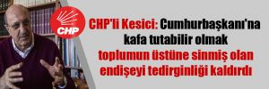 CHP'li Kesici: Cumhurbaşkanı'na kafa tutabilir olmak toplumun üstüne sinmiş olan endişeyi tedirginliği kaldırdı