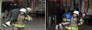 İstanbul'da alt geçidi su bastı araçlar mahsur kaldı