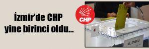İzmir'de CHP yine birinci oldu…