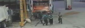 Çöp kamyonundaki metan gazı alev aldı, 2 işçi yaralandı