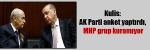 Kulis: AK Parti anket yaptırdı, MHP grup kuramıyor
