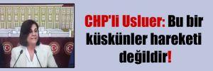 CHP'li Usluer: Bu bir küskünler hareketi değildir!