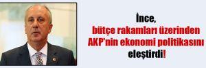 İnce, bütçe rakamları üzerinden AKP'nin ekonomi politikasını eleştirdi!