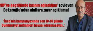 'CHP'ye geçtiğinde kızının ağladığını' söyleyen Bekaroğlu'ndan akıllara zarar açıklama!