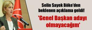 Selin Sayek Böke'den beklenen açıklama geldi!
