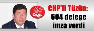 CHP'li Tüzün: 604 delege imza verdi