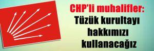 CHP'li muhalifler: Tüzük kurultayı hakkımızı kullanacağız