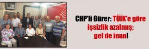 CHP'li Gürer: TÜİK'e göre işsizlik azalmış; gel de inan!