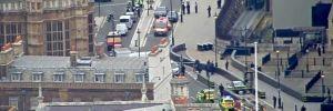İngiltere Parlamentosu'nun bariyerlerine bir araç çarptı: Yaralılar var, sürücü gözaltında