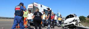 TEM'de feci kaza: 2 ölü, 4 yaralı