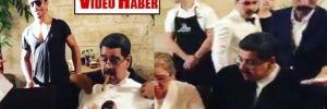 Maduro'nun tepki çeken Nusret görüntüsü!
