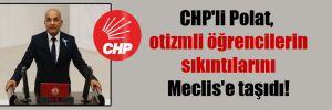 CHP'li Polat, otizmli öğrencilerin sıkıntılarını Meclis'e taşıdı!