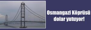 Osmangazi Köprüsü dolar yutuyor!