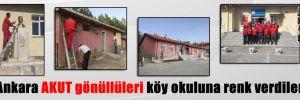 Ankara AKUT gönüllüleri köy okuluna renk verdiler