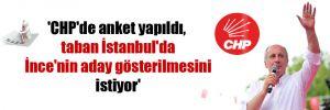'CHP'de anket yapıldı, taban İstanbul'da İnce'nin aday gösterilmesini istiyor'