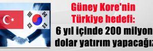 Güney Kore'nin Türkiye hedefi: 6 yıl içinde 200 milyon dolar yatırım yapacağız