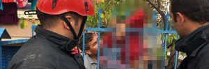 Korkuluk demiri çocuğun koluna saplandı