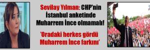 Sevilay Yılman: CHP'nin İstanbul anketinde Muharrem İnce olmamalı!