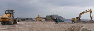 Sivriada'da yıkım başladı