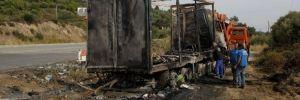 Yunanistan'da feci kaza… 11 mülteci yanarak can verdi