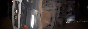 Faciadan dönüldü! Asit yüklü tanker devrildi…