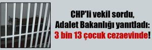 CHP'li vekil sordu, Adalet Bakanlığı yanıtladı: 3 bin 13 çocuk cezaevinde!