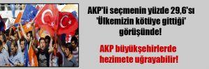 AKP'li seçmenin yüzde 29,6'sı 'Ülkemizin kötüye gittiği' görüşünde!