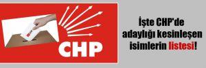 İşte CHP'de adaylığı kesinleşen isimlerin listesi!