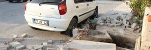 Foseptik çukurunda patlama! Park halindeki araç zarar gördü