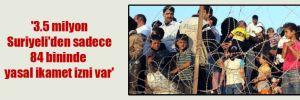'3.5 milyon Suriyeli'den sadece 84 bininde yasal ikamet izni var'