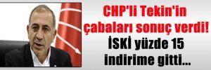 CHP'li Tekin'in çabaları sonuç verdi! İSKİ yüzde 15 indirime gitti…