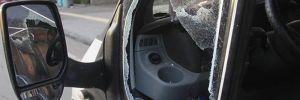 Polis camı kırarak hayat kurtardı