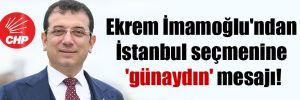 Ekrem İmamoğlu'ndan İstanbul seçmenine 'günaydın' mesajı!