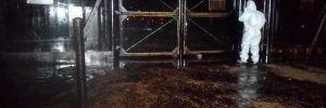 Petrol boru hattına yıldırım düştü! Mahalle boşaltıldı