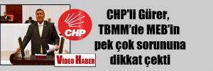 CHP'li Gürer, TBMM'de MEB'in pek çok sorununa dikkat çekti
