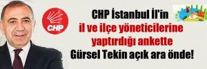 CHP İstanbul İl'in il ve ilçe yöneticilerine yaptırdığı ankette Gürsel Tekin açık ara önde!