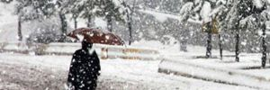 O ilçede kar nedeniyle okullar tatil edildi